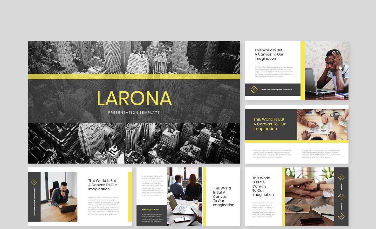 Larona Creative Keynote Template, Slide 2, 08145, Business Models — PoweredTemplate.com