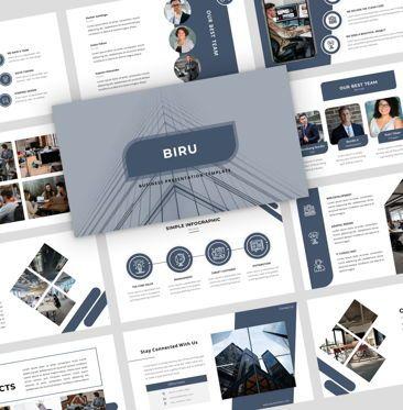 Presentation Templates: Biru - PowerPoint Presentation Template #08146
