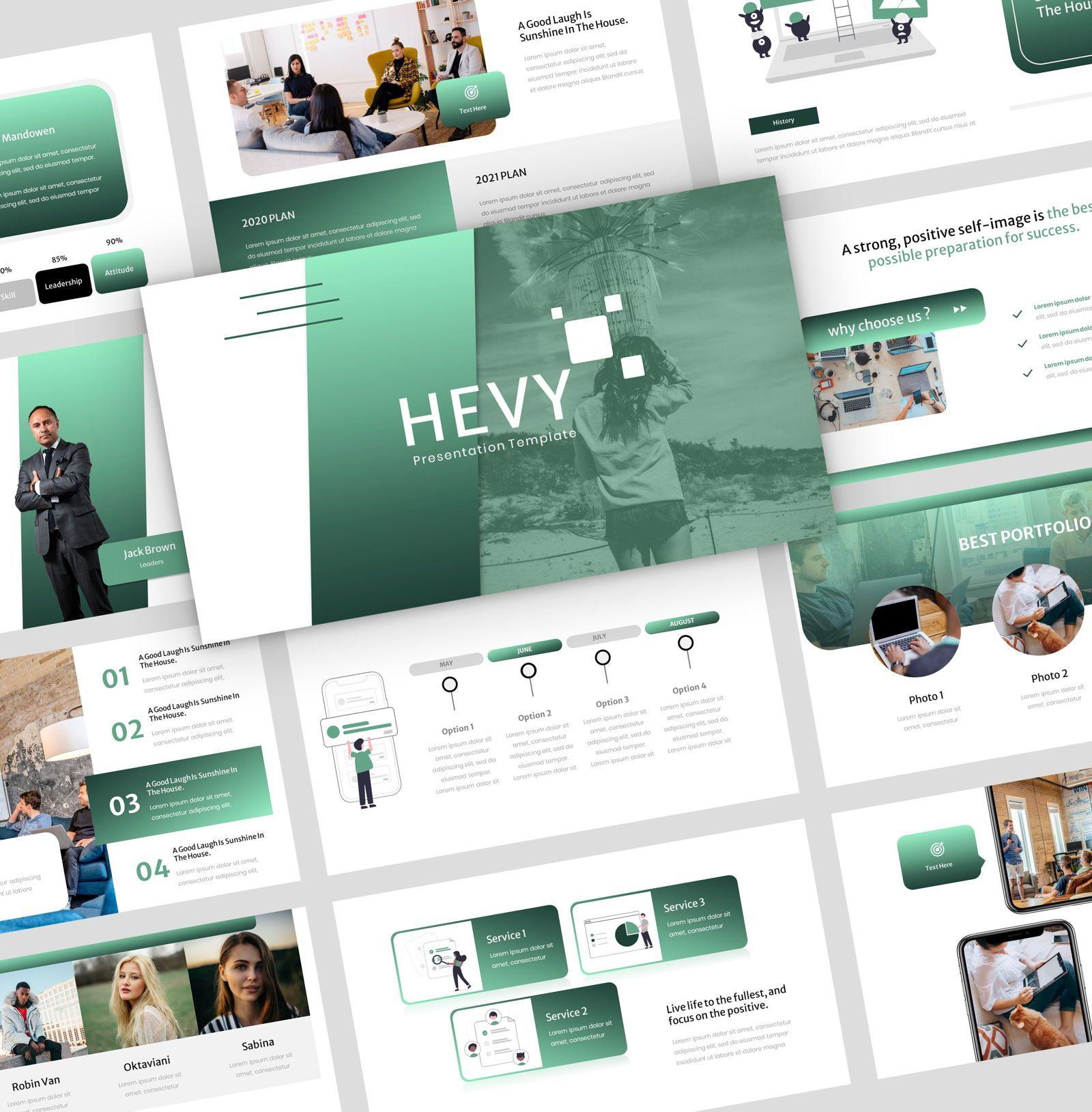 Hevy - Google Slide Presentation Template, 08147, Presentation Templates — PoweredTemplate.com