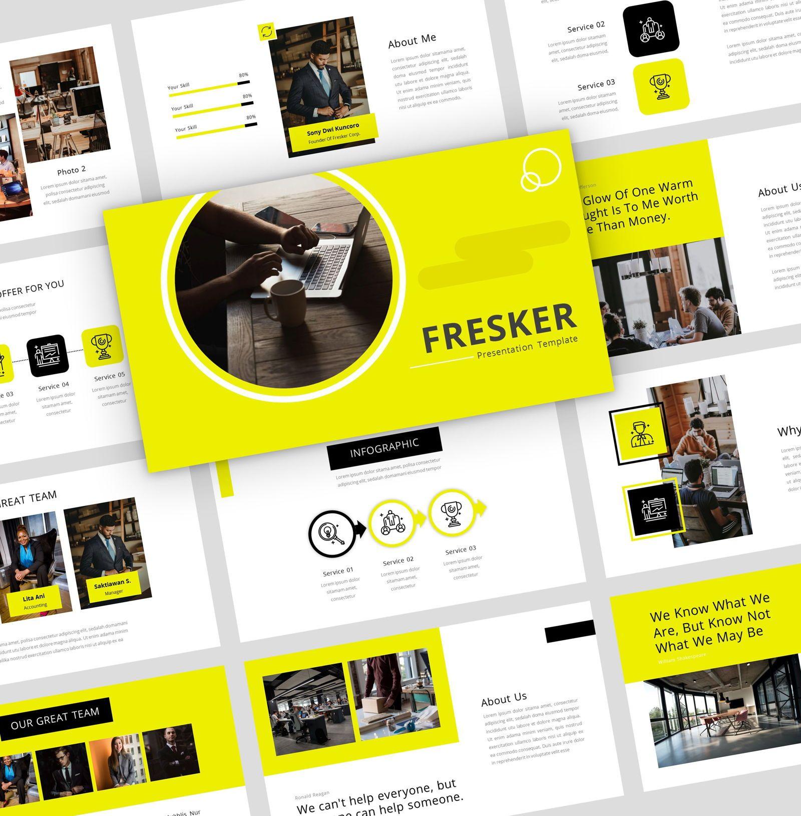 fresker - Google Slide Presentation Template, 08149, Presentation Templates — PoweredTemplate.com