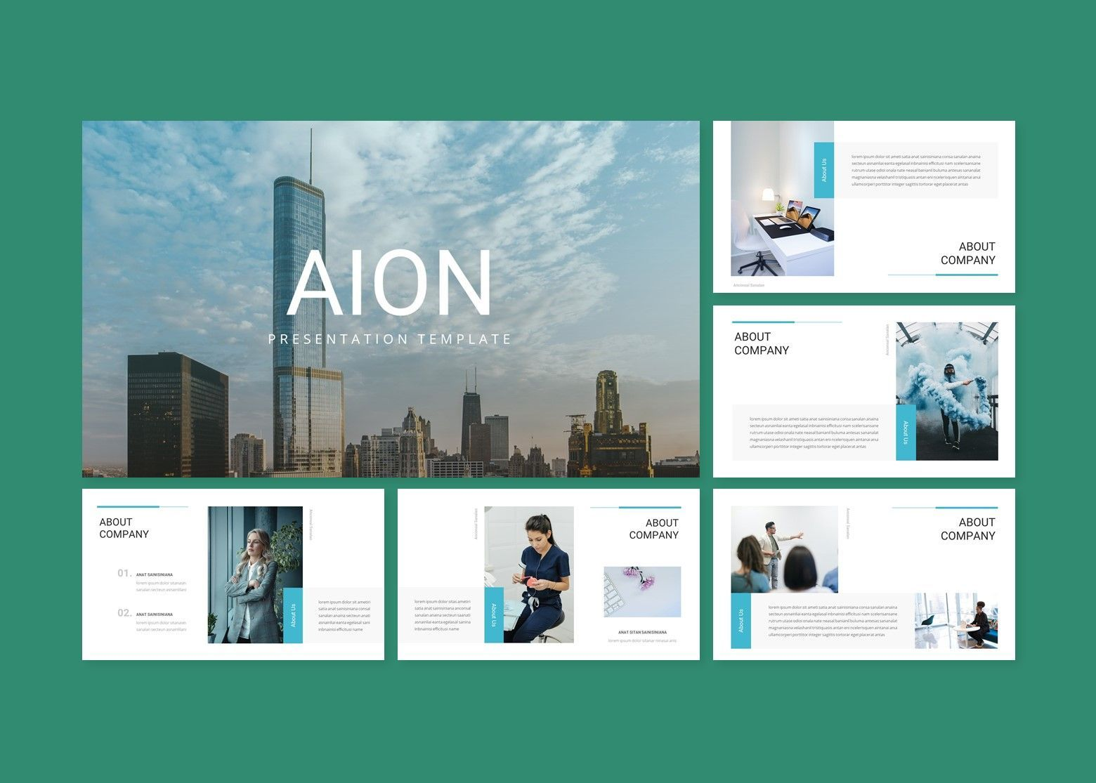 Aion Corporate Google Slides Template, Slide 2, 08151, Business Models — PoweredTemplate.com