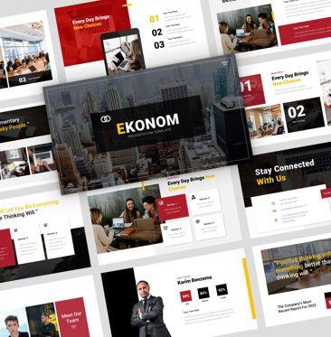 Presentation Templates: ekonom - PowerPoint Presentation Template #08154