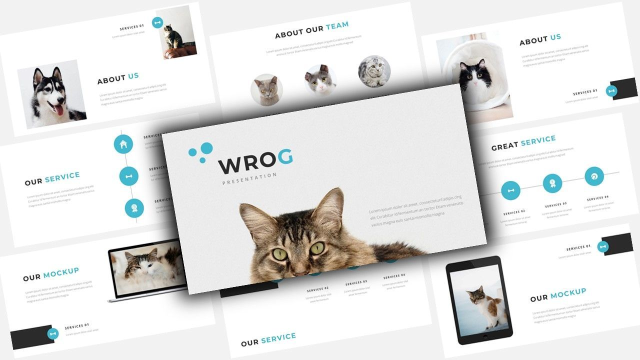 Wrog A Pet Service Keynote Presentation Template, 08155, Business Models — PoweredTemplate.com