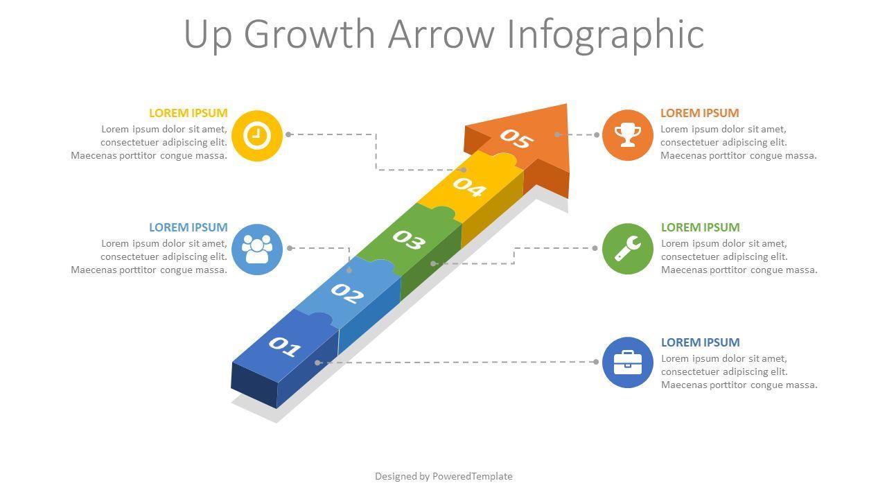 Puzzle Arrow Infographic, 08158, Infographics — PoweredTemplate.com