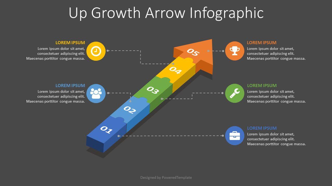 Puzzle Arrow Infographic, Slide 2, 08158, Infographics — PoweredTemplate.com