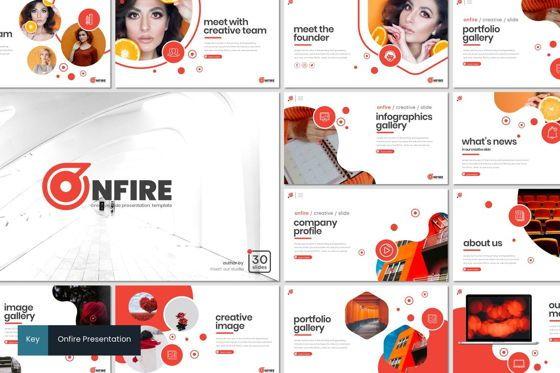 Presentation Templates: Onfire - Keynote Template #08159