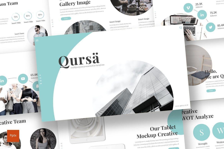 Qursa - PowerPoint Template, 08160, Presentation Templates — PoweredTemplate.com