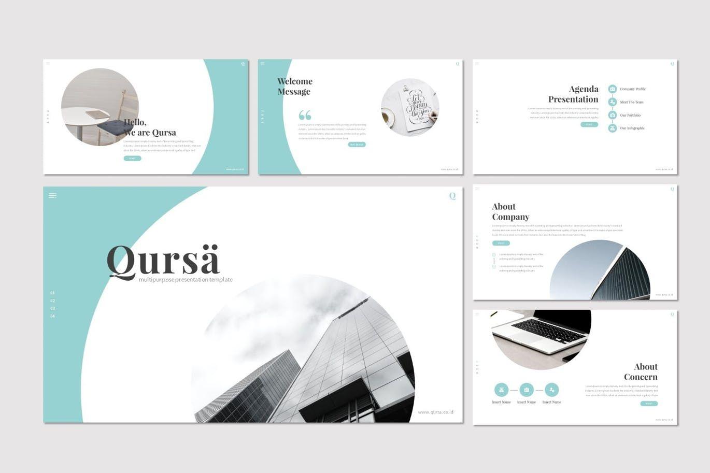 Qursa - PowerPoint Template, Slide 2, 08160, Presentation Templates — PoweredTemplate.com