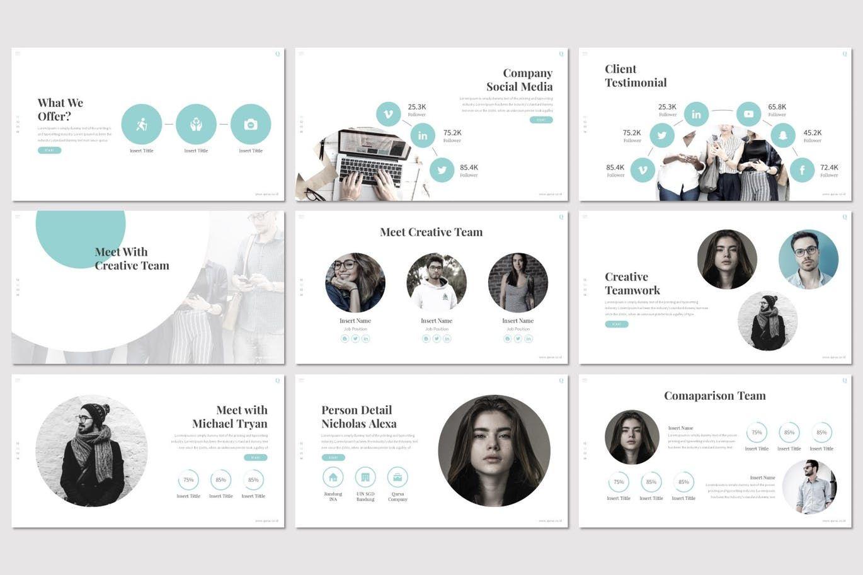 Qursa - PowerPoint Template, Slide 3, 08160, Presentation Templates — PoweredTemplate.com
