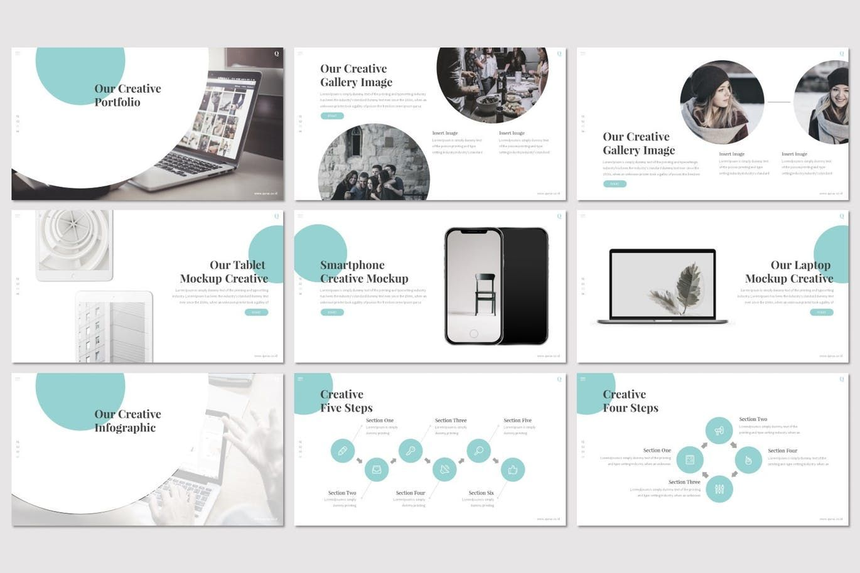 Qursa - PowerPoint Template, Slide 4, 08160, Presentation Templates — PoweredTemplate.com