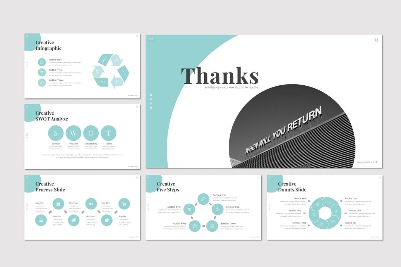 Qursa - PowerPoint Template, Slide 5, 08160, Presentation Templates — PoweredTemplate.com