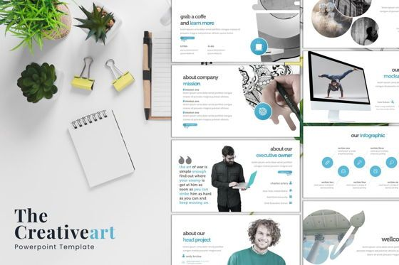 Presentation Templates: The Creativeart - PowerPoint Template #08162