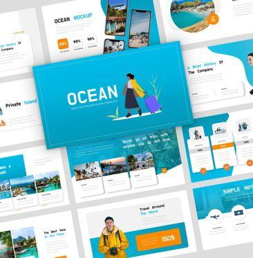 Presentation Templates: Ocean - PowerPoint Presentation Template #08166