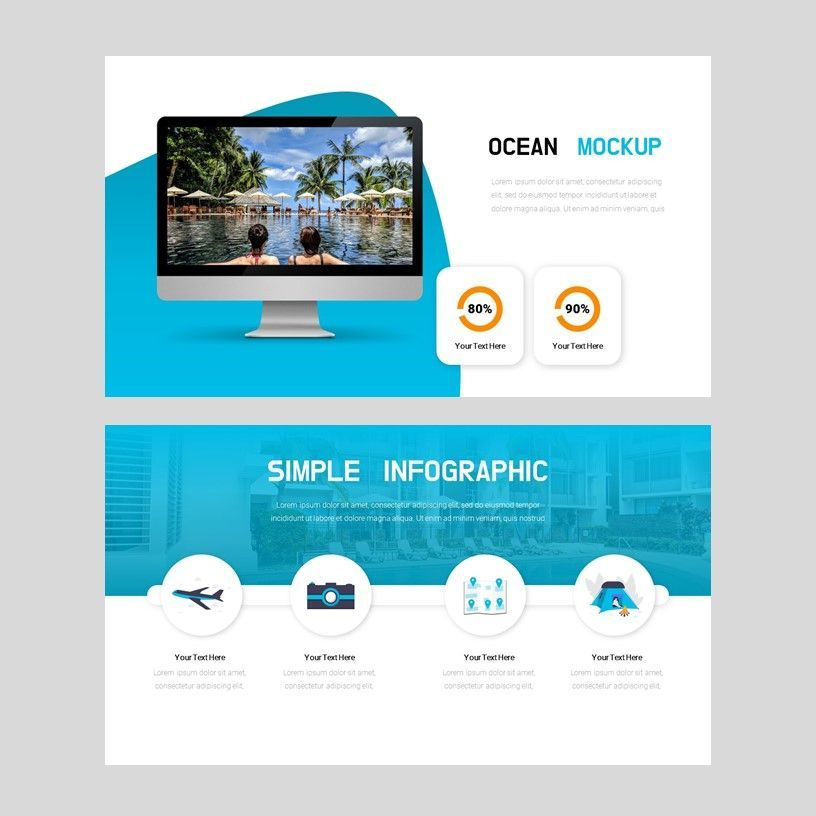 Ocean - PowerPoint Presentation Template, Slide 10, 08166, Presentation Templates — PoweredTemplate.com