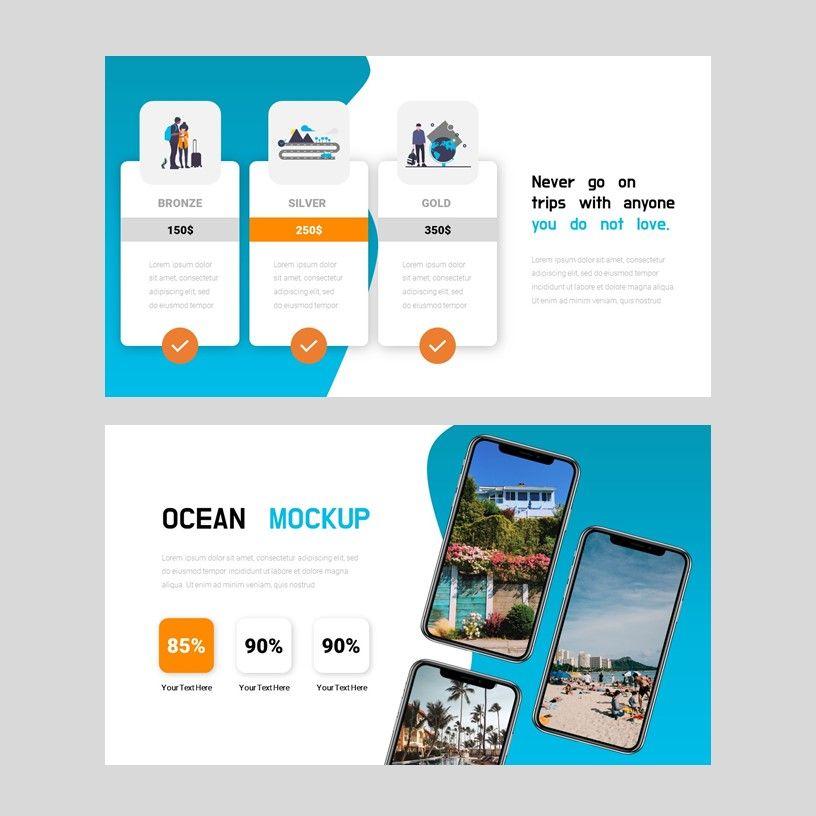 Ocean - PowerPoint Presentation Template, Slide 9, 08166, Presentation Templates — PoweredTemplate.com