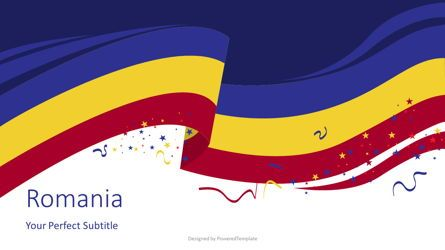 Presentation Templates: Romania State Flag Cover Slide #08167