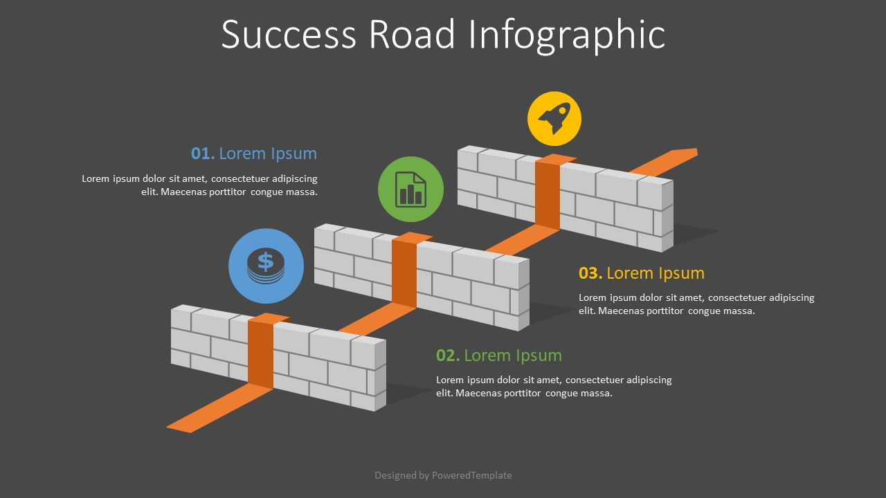 Business Overcomes Obstacles Infographic, Slide 2, 08174, Infographics — PoweredTemplate.com