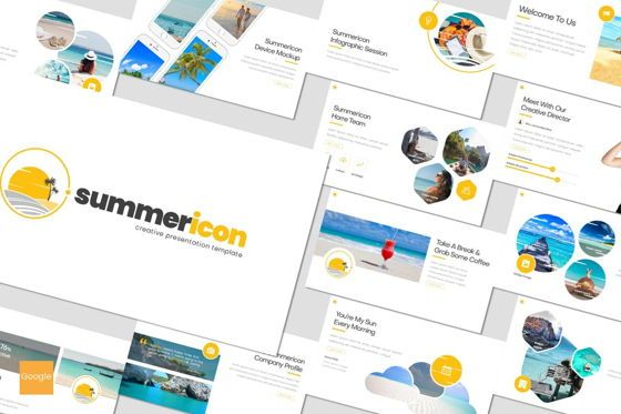 Presentation Templates: Summericon - Google Slides Template #08179