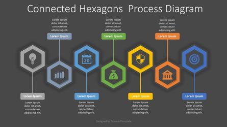 Infographics: 7 Connected Hexagons Process Diagram #08181