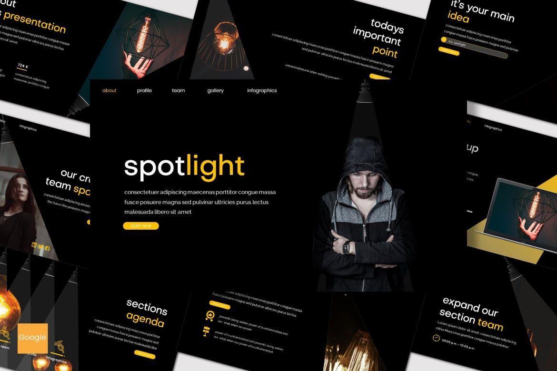 Spotlight - Google Slides Template, 08186, Presentation Templates — PoweredTemplate.com