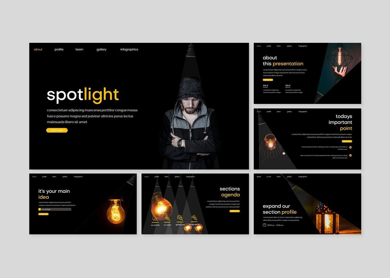 Spotlight - Google Slides Template, Slide 2, 08186, Presentation Templates — PoweredTemplate.com