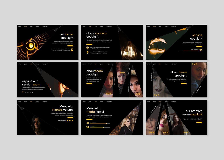 Spotlight - Google Slides Template, Slide 3, 08186, Presentation Templates — PoweredTemplate.com