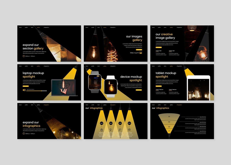 Spotlight - Google Slides Template, Slide 4, 08186, Presentation Templates — PoweredTemplate.com