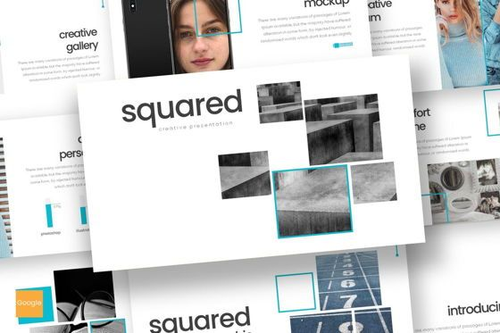 Presentation Templates: Squared - Google Slides Template #08187