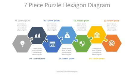 Puzzle Diagrams: 7 Piece Puzzle Hexagon Diagram #08188