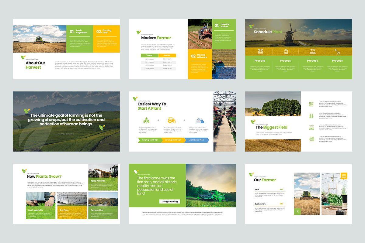 Harvest Google Slide Templates, Slide 3, 08191, Business Models — PoweredTemplate.com