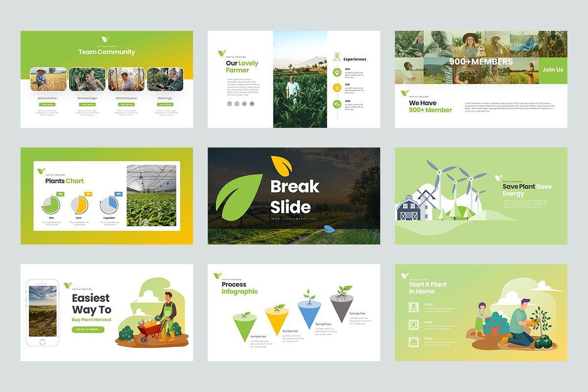 Harvest Google Slide Templates, Slide 4, 08191, Business Models — PoweredTemplate.com