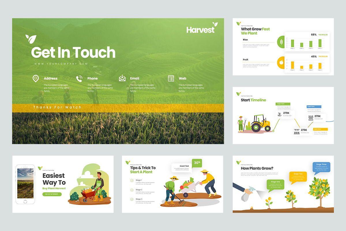 Harvest Google Slide Templates, Slide 5, 08191, Business Models — PoweredTemplate.com