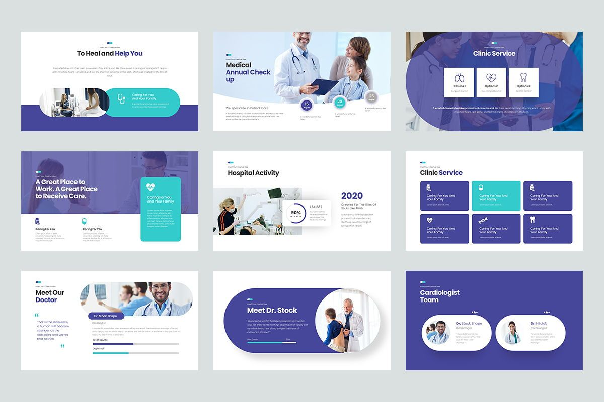 Clinic Keynote Templates, Slide 3, 08192, Business Models — PoweredTemplate.com