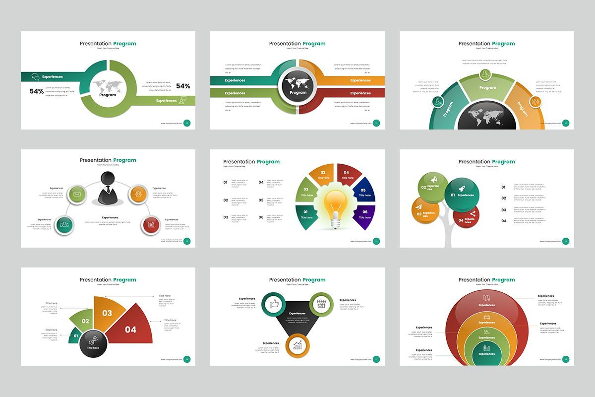 Circle Infographic Keynote Templates, Slide 3, 08194, Business Models — PoweredTemplate.com