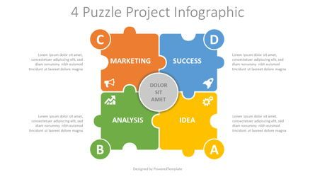 Infographics: 4 Puzzle Project Infographic #08195