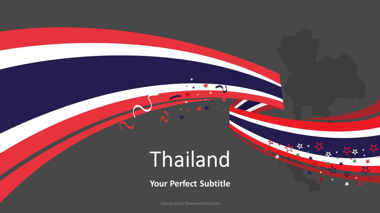 Thailand Festive State Flag, Slide 2, 08202, Presentation Templates — PoweredTemplate.com