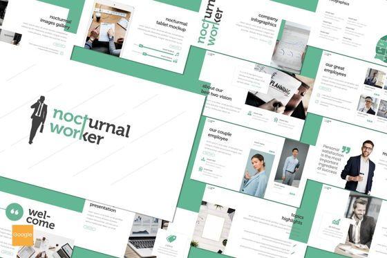 Presentation Templates: Nocturnal Worker - Google Slides Template #08203
