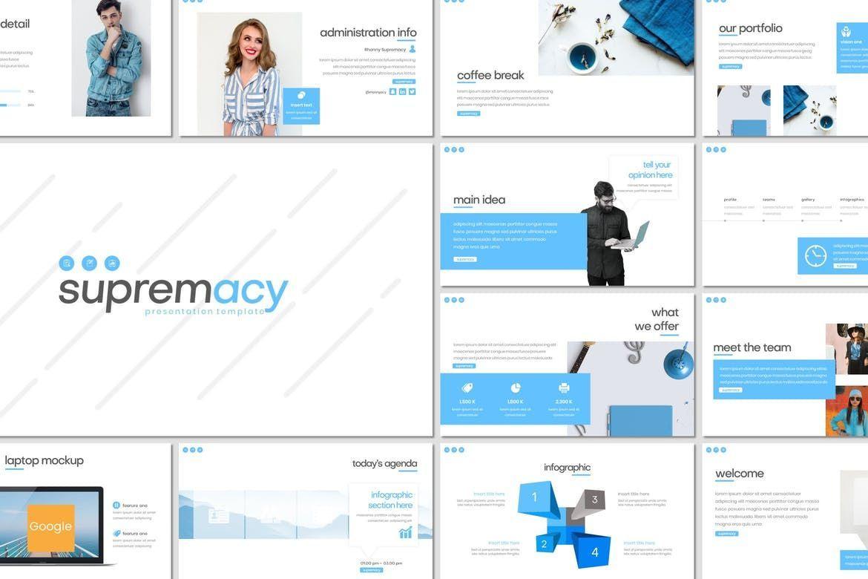Supremacy - Google Slides Template, 08206, Presentation Templates — PoweredTemplate.com