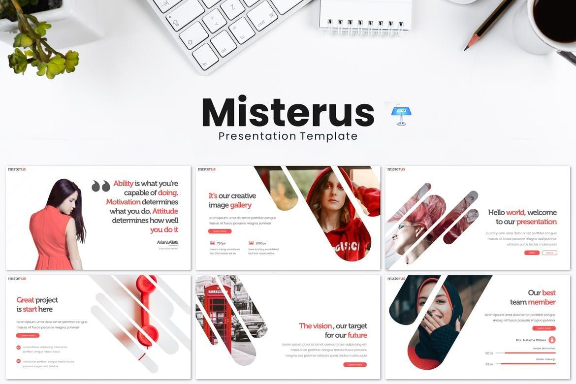 Misterus - Keynote Template, 08207, Presentation Templates — PoweredTemplate.com
