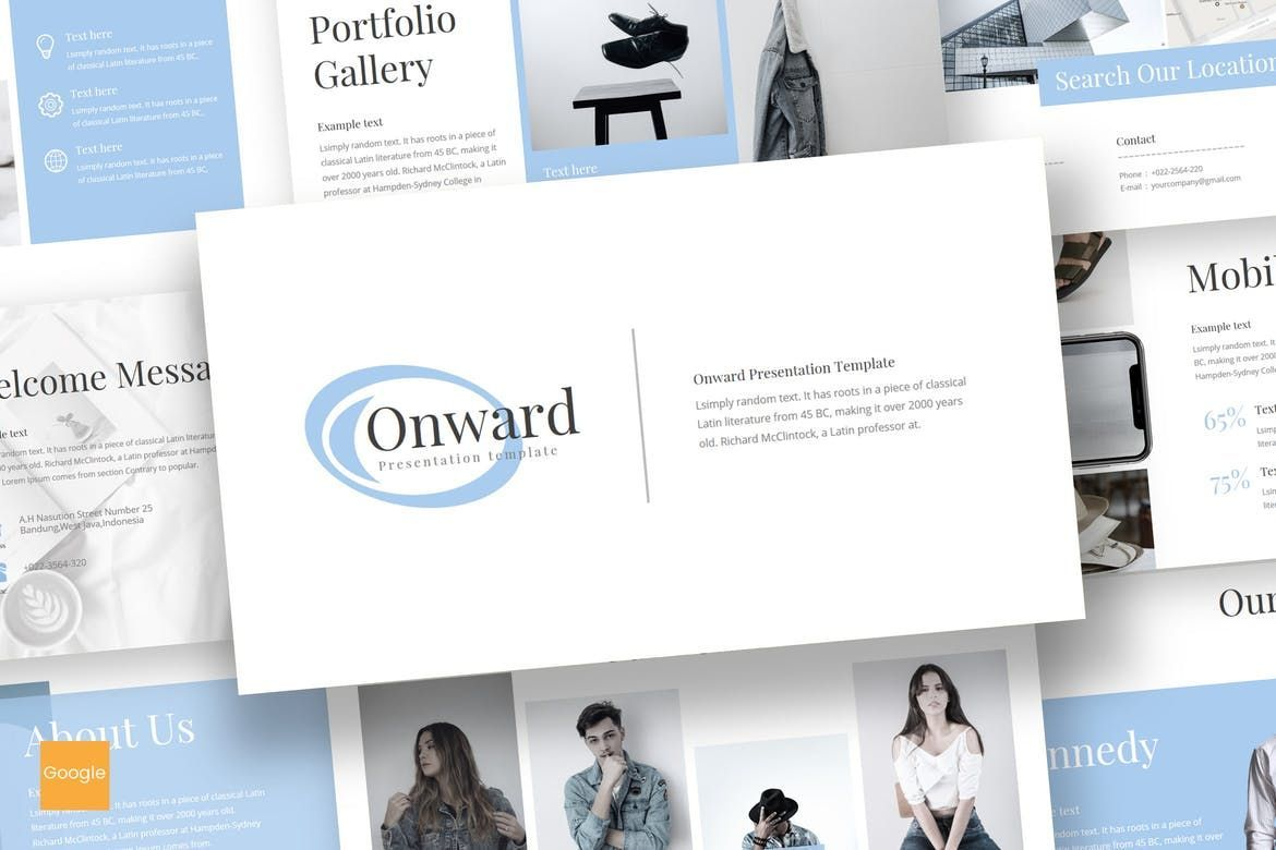 Onward - Google Slides Template, 08210, Presentation Templates — PoweredTemplate.com