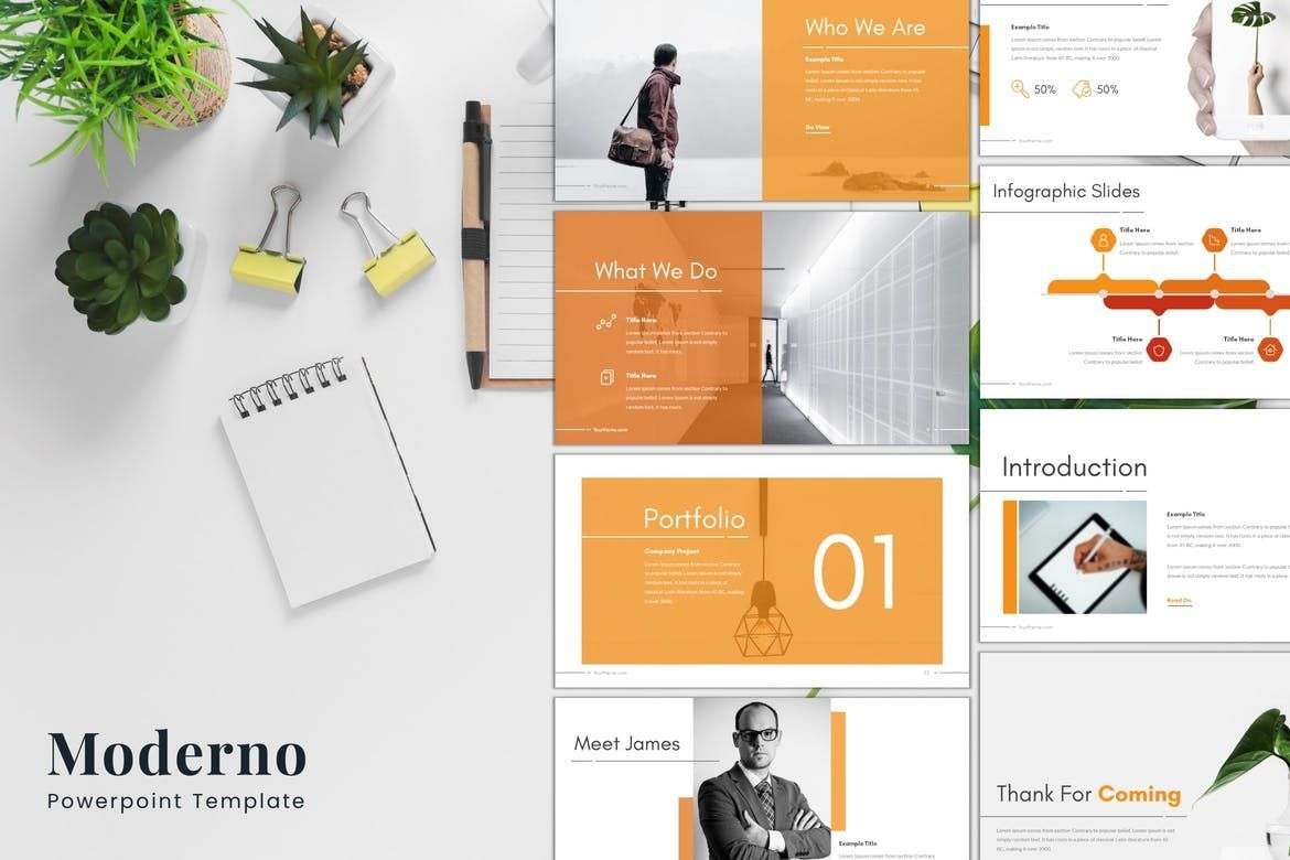 Moderno - PowerPoint Template, 08211, Presentation Templates — PoweredTemplate.com