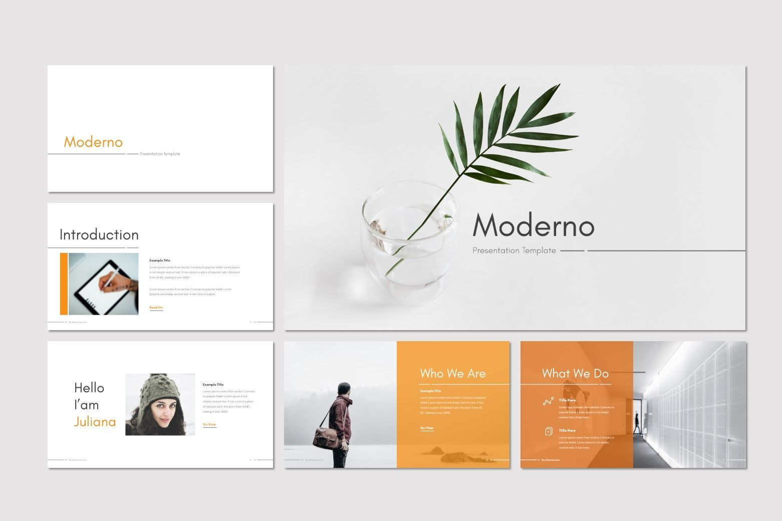 Moderno - PowerPoint Template, Slide 2, 08211, Presentation Templates — PoweredTemplate.com