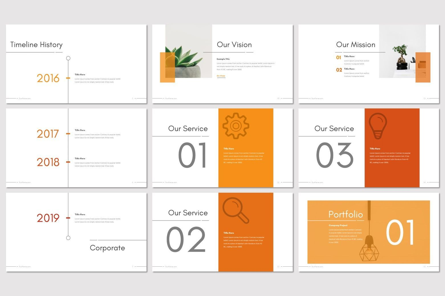 Moderno - PowerPoint Template, Slide 3, 08211, Presentation Templates — PoweredTemplate.com