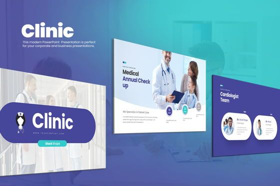 Business Models: Clinic Google Slide Templates #08212