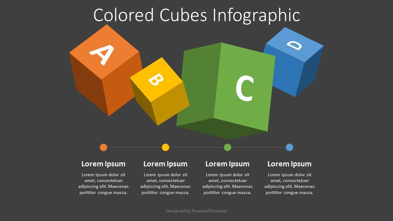 4 Colored Cubes Infographic, Slide 2, 08213, Education Charts and Diagrams — PoweredTemplate.com