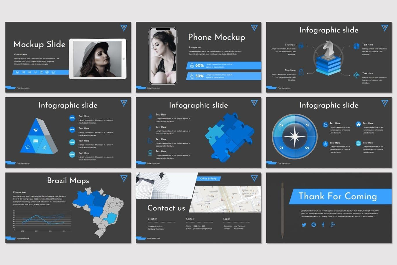 Polar - PowerPoint Template, Slide 5, 08215, Presentation Templates — PoweredTemplate.com