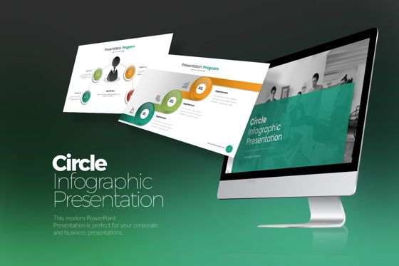 Business Models: Circle Infographic Google Slide Templates #08216