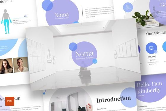 Presentation Templates: Noma - PowerPoint Template #08222