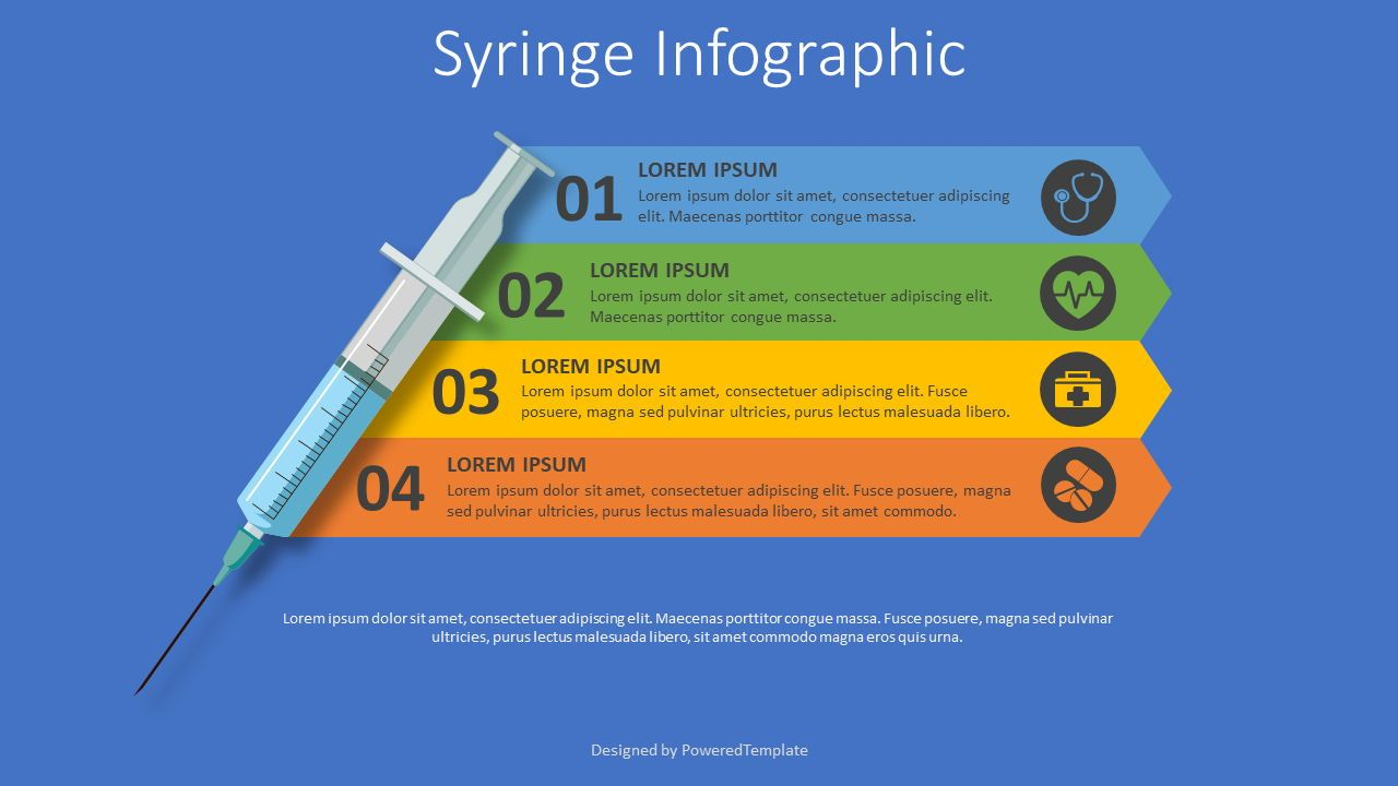 Syringe Medical Infographic, 08225, Medical Diagrams and Charts — PoweredTemplate.com