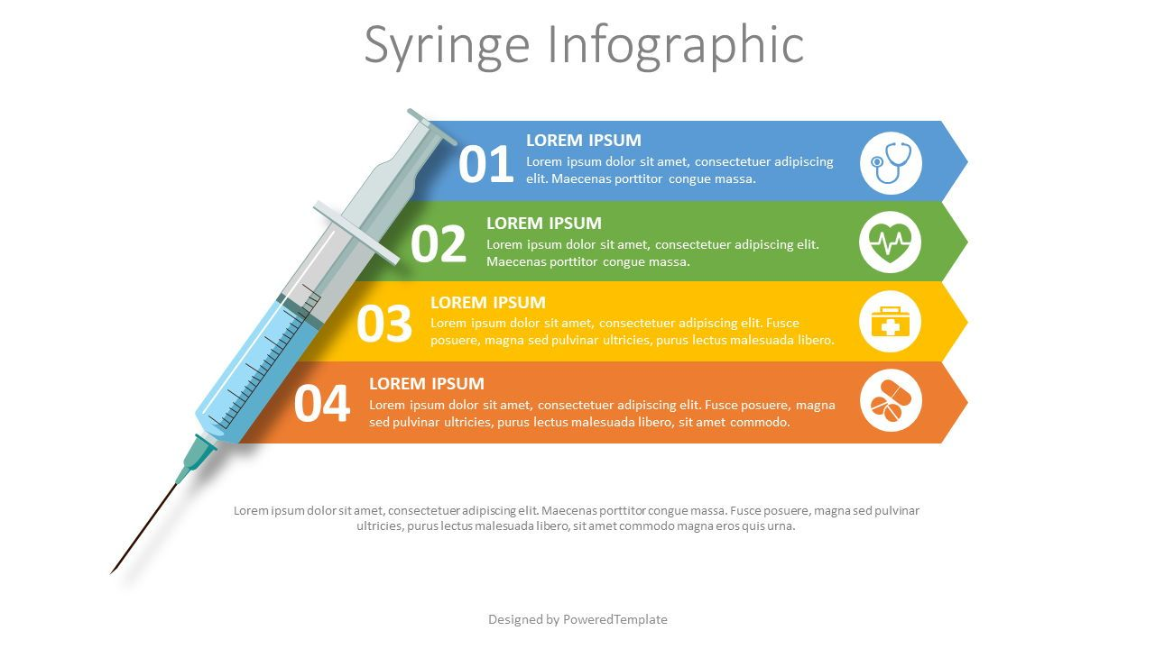 Syringe Medical Infographic, Slide 2, 08225, Medical Diagrams and Charts — PoweredTemplate.com